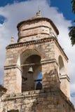Torre di chiesa nelle Ande immagine stock libera da diritti