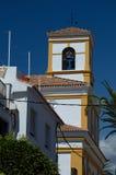 Torre di chiesa in San Pedro de Alcantara, Marbella Fotografie Stock