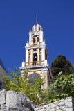 Torre di chiesa sull'isola di Symi Immagine Stock Libera da Diritti