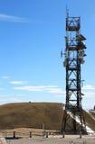 Torre di comunicazione al campo Imperatore, Italia Fotografie Stock