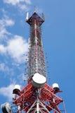Torre di comunicazione alta Fotografia Stock