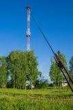 Torre di comunicazione cellulare Fotografia Stock