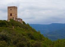 Torre di comunicazioni antica del telegrafo Puiggracios Fotografia Stock Libera da Diritti