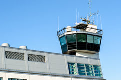 Torre di controllo del porto o del porto Fotografia Stock Libera da Diritti