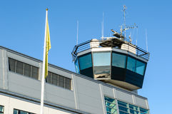 Torre di controllo del porto o del porto fotografia stock
