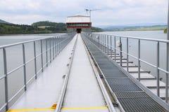 Torre di controllo della diga Fotografia Stock