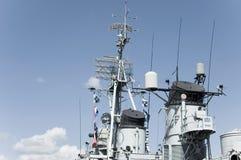 Torre di controllo della nave da guerra Immagine Stock