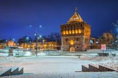 Torre di Dmitrievskaya del Cremlino di Nižnij Novgorod immagini stock