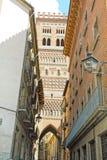 Torre di El Salvador, Teruel, Spagna Fotografia Stock Libera da Diritti