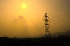 Torre di energia elettrica Fotografie Stock