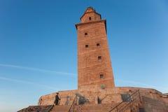 Torre di Ercole, La Coruna immagine stock