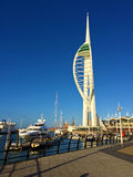 Torre di fama mondiale Portsmouth, Inghilterra dello spinnaker Immagine Stock