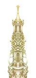 Torre di fiaba isolata su bianco Materiale illustrativo grafico acquerello Immagine Stock Libera da Diritti