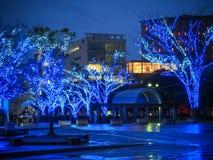 Torre di Fukuoka con luce notturna Fotografie Stock Libere da Diritti
