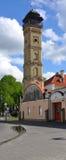 Torre di fuoco a Grodno belarus Fotografia Stock