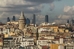 Torre di Galata, Costantinopoli, Turchia Fotografia Stock