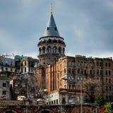 Torre di Galata, Costantinopoli, Turchia Immagini Stock