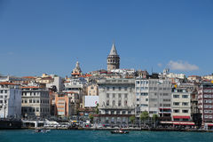 Torre di Galata e di Karakoy a Costantinopoli Immagine Stock