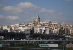 Torre di Galata e ponte di galata Fotografia Stock Libera da Diritti
