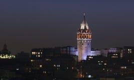 Torre di Galata di vista di Bosphorus a Costantinopoli Fotografia Stock