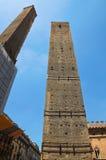 Torre di Garisenda. Bologna. L'Emilia Romagna. L'Italia. Fotografie Stock Libere da Diritti