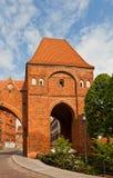 Torre di Gdanisko (XIV C ) del castello teutonico di ordine Torum, Polonia fotografia stock libera da diritti