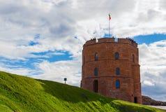 Torre di Gediminas, Vilnius, Lituania fotografie stock