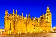 Torre di Giralda a Sevilla, Andalusia, Spagna Immagini Stock Libere da Diritti