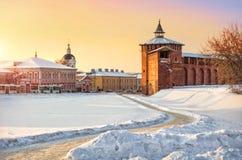 Torre di Granovitaya del Cremlino di Kolomna Immagine Stock Libera da Diritti