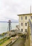 Torre di guardia di Alcatraz, San Francisco, California Fotografia Stock