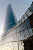 Torre di Iberdrola al tramonto Immagini Stock Libere da Diritti