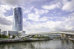 Torre di Iberdrola a Bilbao, spagna Fotografie Stock Libere da Diritti