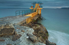 Torre di immersione subacquea di Blackrock immagine stock