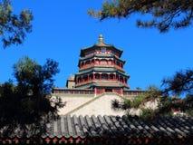 Torre di incenso buddista (xiangge delle FO) Immagine Stock