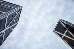 Torre di Kio a Madrid, veduta da sotto Fotografia Stock Libera da Diritti