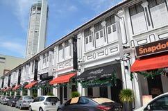 Torre di Komtar da una della via a Penang Fotografia Stock