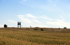 Torre di legno, campo Immagine Stock
