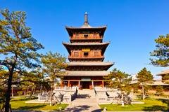 Torre di legno del tempio del ` s Huayan di Datong Immagine Stock