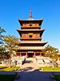 Torre di legno del tempio del ` s Huayan di Datong Fotografia Stock