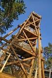Torre di legno dell'allerta Immagini Stock