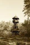 Torre di legno dell'allerta Immagine Stock