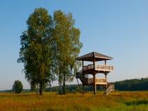 Torre di legno dell'allerta Fotografie Stock Libere da Diritti