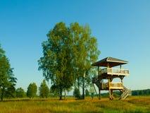 Torre di legno dell'allerta Fotografia Stock