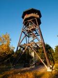 Torre di legno dell'allerta Fotografie Stock