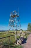 Torre di legno dell'orologio Fotografia Stock