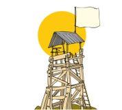 Torre di legno dell'orologio Fotografia Stock Libera da Diritti