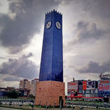 Torre di legno dell'orologio Immagine Stock