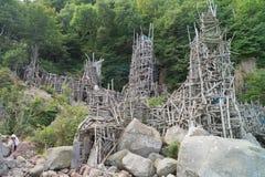 Torre di legno di Nimis Fotografie Stock Libere da Diritti