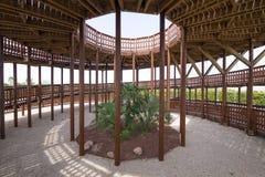 Torre di legno interna nella città di Madrid del parco di Valdebebas Fotografia Stock