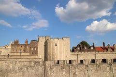 Torre di Londra - attrazione turistica britannica famosa a Londra, Regno Unito Fotografia Stock